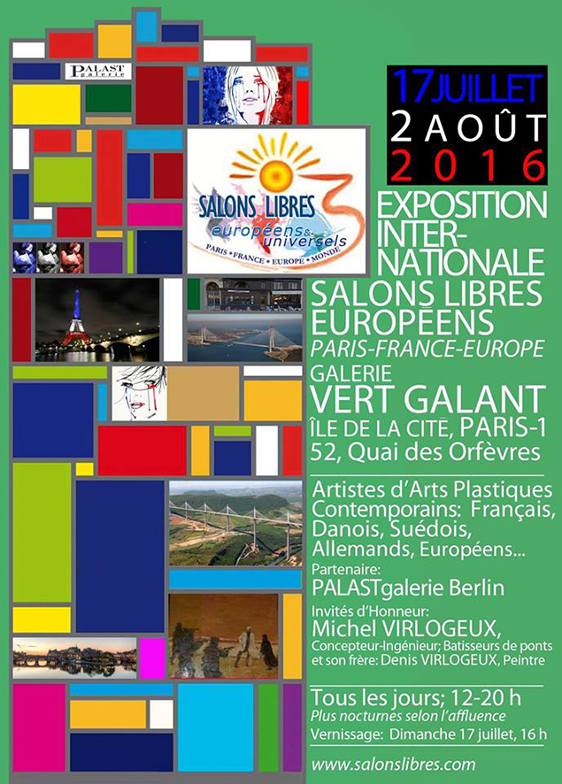 Affiche expo vert galant