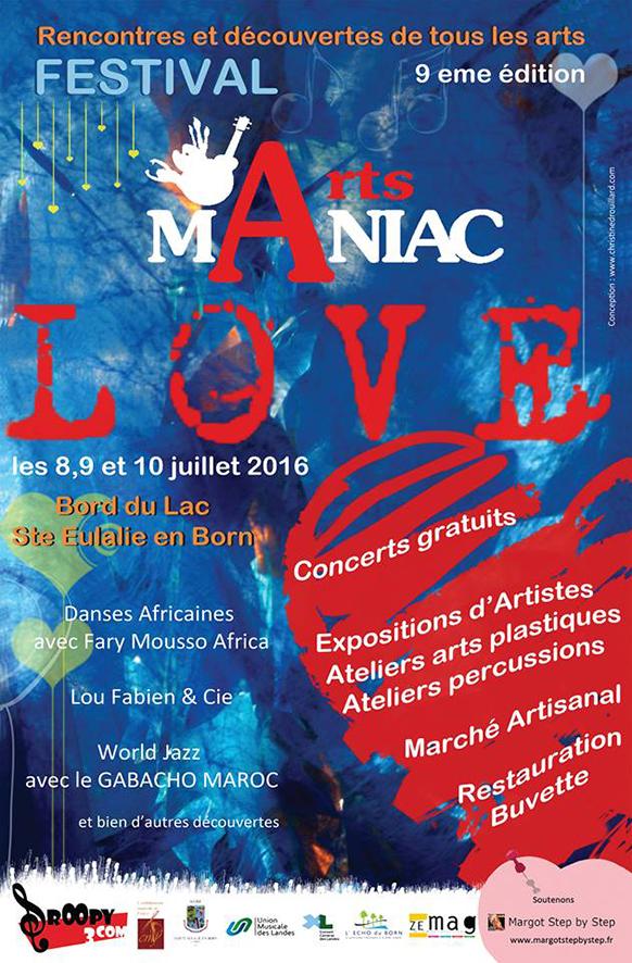 Affiche festival arts maniac