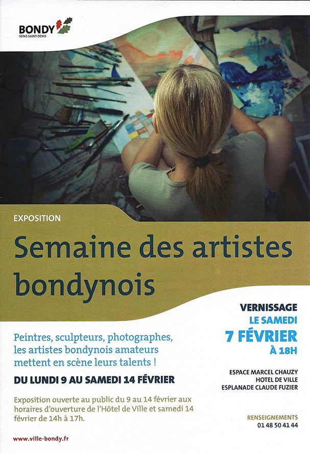 Affiche semaine artistes bondynois fb